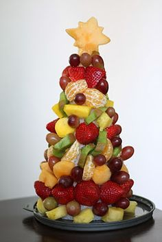 christmas tree made from fruit | My Crafty Adventure: Christmas Fruit Tree - Wellsphere