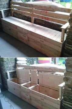 Storage Bin  ~*~*~*~General Pallet is the Largest Distributor of Pallets in the Northeast. We are one of the largest #pallet recyclers in the United States. We believe in promoting the responsible use of pallets after they leave the distribution cycle. Help us keep this world a better place and #repin these great #upcycle ideas! www.generalpallet.com