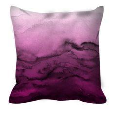 One Bella Casa Winter Waves Ombre Pillow by Julia Di Sano Cricut, Purple Ombre, Purple Baby, Magenta, Throw Pillow Sets, Pillow Talk, Trends, Outdoor Throw Pillows, Violet