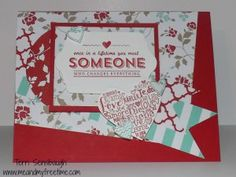 Valentine's day card featuring Stampin' Up! See Ya Later stamp set #StampinUp