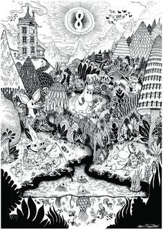Tove Jansson - moomin monorex print 1 VIA Le Cornacchie della Moda