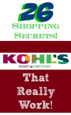 Good to know!! I always shop at Kohl's!