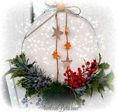 Bim Bum Beta: La ghirlanda invernale e i segnaposto...che ci accompagneranno per tutte le feste, e oltre.