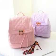 Quilted Drawstring Backpack (c) Muguwu (c) YesStyle