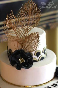 Cake from a Great Gatsby Birthday Party via Kara's Party Ideas | KarasPartyIdeas.com (19)
