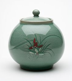 Celadon Orchid Ginger Jar... this is BEAUTIFUL