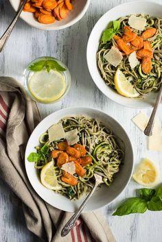 Spring Pasta with Carrot Top Pesto - easy gluten-free, vegetarian ...