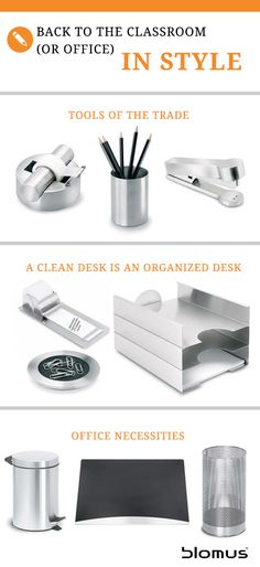 Prep for back to school or office in style with stainless steel designs by #blomus