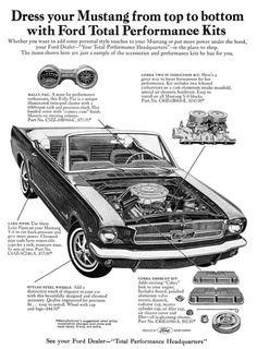 1965 Ford Mustang performance parts #mustangvintagecars