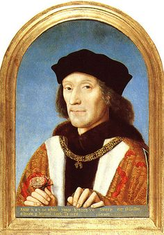 Henry VII, likely painted in the early years of his reign (he reigned for 24 years, before dying in 1509, with his son Henry VIII ascending the throne).