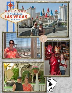 Vegas Scrapbook page. Bachelor party? If no pictures were taken (what happens in Vegas stays in Vegas) use tickets, room keys, plane tickets etc.