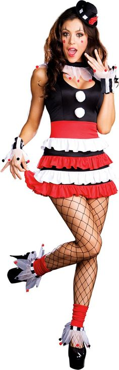 Adult Sexy Cirque Circus Clown Costume - Party City