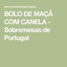 BOLO DE MAÇÃ COM CANELA - Sobremesas de Portugal
