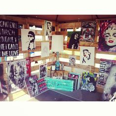 My festival booth design.  Walls were made from sod pallets- fun idea!