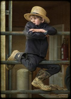 Amish Boy. Adorable.