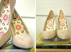 DIY replace lining / insoles of your old worn out shoes!  I have some slingbacks that need this treatment!