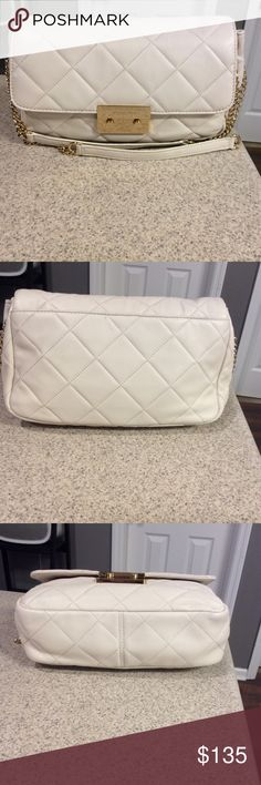 Michael Kors Vanilla Sloan Bag Beautiful soft leather Quilted bag. In good condition. A few light marks as pictured. Authentic! No trades! No offers in the comment Section. Michael Kors Bags