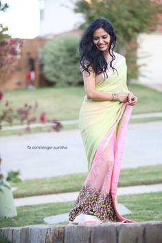 Image may contain: 1 person Simple Sarees, Trendy Sarees, Stylish Sarees, Fancy Sarees, Indian Silk Sarees, Indian Beauty Saree, Saree Poses, Modern Saree, South Indian Actress Hot