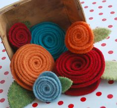 Eco Friendly Recycled Felted Wool Sweater Pins by SweaterloveMemphis, $12 to $18.