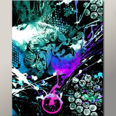 Abstract Art Print 11x14 Contemporary Modern Fine by wostudios