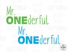 Mr. Onederful Cuttable Design File SVG EPS JPG by LittleCuttable