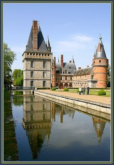 Chateau in Maintenon_ Central France