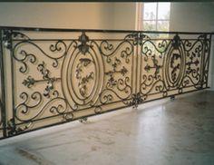 Ornate Interior Wrought Iron Railing