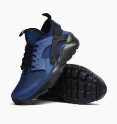 AUTHENTIC Nike Huarache Run Ultra Costal Blue Obsidian Blk # 819685 402 Men sz