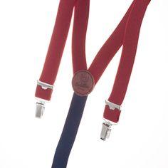 Bretelles fines Bordeaux  Suspenders / Braces Burgundy  http://www.lecolonelmoutarde.com/fr/bretelles/bretelles-bordeaux-fines--441.html