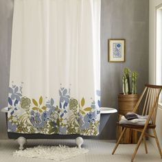 Showers & Flowers: Floral Shower Curtains Under $50