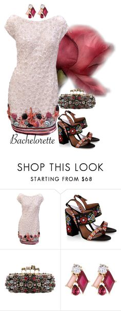 """""""bachelorette"""" by alenaglush ❤ liked on Polyvore featuring Zuhair Murad, Tabitha Simmons, Alexander McQueen and Kate Spade"""