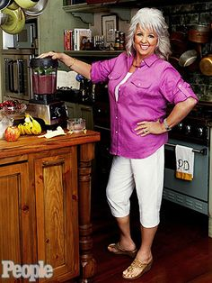 It's a HEALTHY recipe from Paula Deen! Check out her breakfast smoothie. http://www.people.com/people/article/0,,20608050,00.html