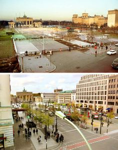 Pariser Platz by the Brandenburg Gate is sealed off in autumn 1989.The Berlin Wall: Photos of then and now The Local