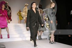 Designer John Galliano and models walk down the catwalk during the Christian Dior Fashion show as part of Paris Fashion Week Autumn/Winter 2008, at Jardin des Tuileries on February 27, 2007 in Paris, France.