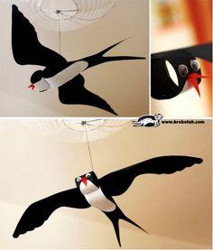 Zwaluw knutselen met kleuters / FECSKE
