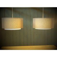Linden tanis duo xl hanglamp met dubbele kappen 2-lichts linnen 47cm kap in meerdere kleuren Home Lighting, Lights, Home Decor, Dining Room, Mesas, Decoration Home, Room Decor, Lighting, Home Interior Design