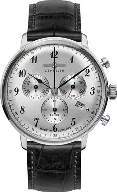 Zeppelin Watch Hindenburg #bezel-fixed #bracelet-strap-leather #brand-zeppelin #case-depth-12mm #case-material-steel #case-width-40mm #chronograph-yes #classic #date-yes #delivery-timescale-call-us #dial-colour-silver #gender-mens #movement-quartz-battery #official-stockist-for-zeppelin-watches #packaging-zeppelin-watch-packaging #style-dress #subcat-hindenburg #supplier-model-no-7088-1 #warranty-zeppelin-official-2-year-guarantee #water-resistant-30m