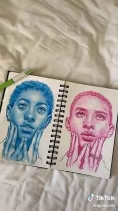 Art Drawings Sketches Simple, Pencil Art Drawings, Realistic Drawings, Art Journal Inspiration, Art Inspo, Gcse Art Sketchbook, Ballpoint Pen Drawing, Diy Canvas Art, Art Tutorials