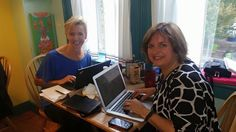 Meridith Elliott Powell and Donna Cutting planning mutual book launch. Asheville and Western North Carolina - Save the date of January 7, 2015. And keep an eye on our Facebook pages for more information!