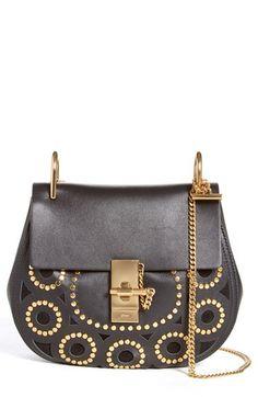 Chloé Chloé 'Small Drew' Studded Calfskin Shoulder Bag available at #Nordstrom