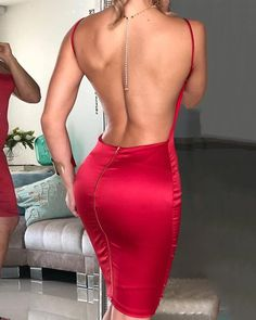 Open Back Spaghetti Strap figurbetontes Kleid, Source by sinawund strap Bodycon Dresses Bodycon Dress With Sleeves, Belted Dress, Tight Dresses, Sexy Dresses, Midi Dresses, Outfits Dress, Tight Skirts, Backless Dresses, Woman Outfits