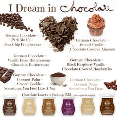 My chocolate-obsessed creations!!  https://www.facebook.com/sweetscentswithkim https://kimhatfield.scentsy.us/