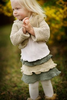 Ruffle Cardigan   Hand Knit Baby Sweater Recycled by joretta, $68.00 knitting friends! I WILL PAY YOU TO MAKE THIS!!!