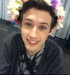 Such a beautiful flowergirl... Haha. You can come to my wedding, Troye... if you're the groom.