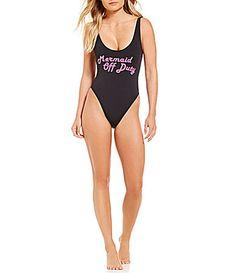 Bikini Lab Summer Dayz LaceUp Back OnePiece #Dillards