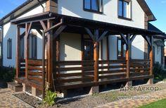 Террасы и навесы из дерева для машин, для дома - Изготовление деревянных навесов в Киеве и Киевской области