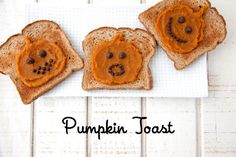 Pumpkin Toast with homemade pumpkin butter via @Catherine McCord #pumpkin