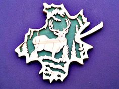Wood Scroll Saw, Deer Art, Wall Plaque