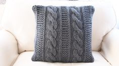RTS Hand knitted Dark Grey cable stitch by MyMomsLittleKnits