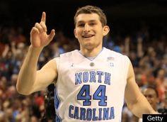 TYLER ZELLER, Duke MVP in the Battle of the Blues. Duke 85, UNC(North Carolina) 84. Thanks T! LOL! (2/8/12-Wed, Basketball)